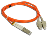 (AL) FO Patch cord MM LC-SC duplex 50/125 1.0m