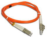 (AL) FO Patch cord MM LC-LC duplex 50/125 1.0m